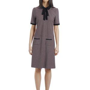 Vive Maria British School Kleid Schwarz allover kariert minikleid 60er kleid